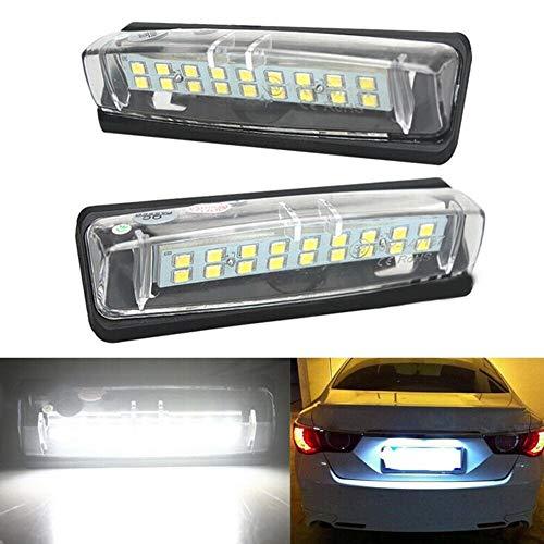 Luces de matrícula de coche 2 unids LED Licenciamiento Número de Luz de Luz Compatible con Mitsubishi Grandis Colt Plus para LEXUS IS200 300 RX300 350 Lámparas de Placa de Licencia Automóviles Univers
