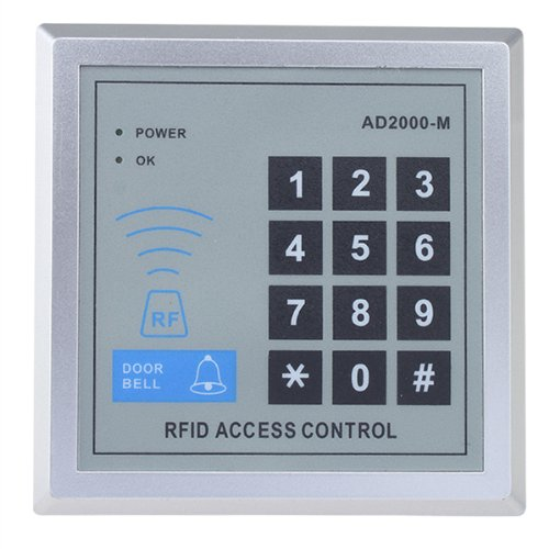 AGPTEK Security RFID Proximity Door Entry Keypad with 10 Key Fobs for Access Control System