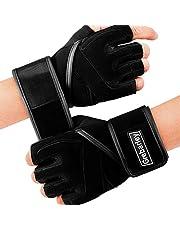 Grebarley Gymhandskar, träningshandskar fullständigt handledsstöd, andas extra grepp palmskydd fitness crossfit för män och kvinnor