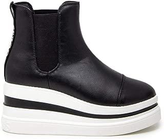 Guess Luxury Fashion Womens FL7KELELE10BLACK Black Ankle Boots | Fall Winter 19