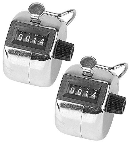 infactory Personenzähler: Handzähler aus Metall, 2er-Pack (Zähler)