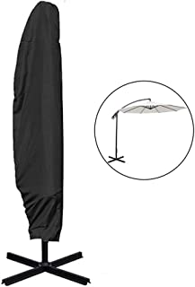 Fundas para Sombrillas, Cubierta de Parasol de Tela Oxford 210D Impermeable con Cremallera Fundas Protectora de Sombrilla con Bolsa de Almacenamiento para Sombrilla de Jardín Patio Al Aire Libre