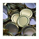50 Stück X to 53 mm Gold Schraubdeckel für Gläser • Twist Off Deckel Verschluss Ø 53mm • Ersatzdeckel To53 • 25,50,100,150,200,250,500 Stück • Große Auswahl Verschiedene Größen und Farben