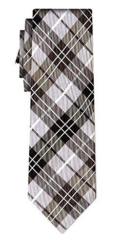 Cravate soie tartan pattern silver