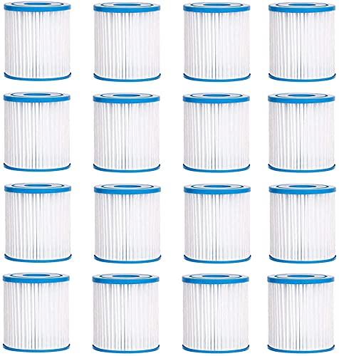 LXTOPN Tipo H Filtro de piscina, cartucho de filtro compatible 29007, para Intex Pool Easy Set Cartucho de filtro - Tipo H, Filtro de piscina H Reemplazo para Clear Model 601 Filter Pump. (12PCS)