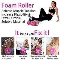 ヨガコラム フィットネス フォーム ヨガピラティス ローラー ブロックトレーニングジムマッサージグリッドトリガーポイントセラピー(Color : ピンク)Yoga column fitness form yoga pilates roller block training gym massage grid trigger point therapy (Pink)