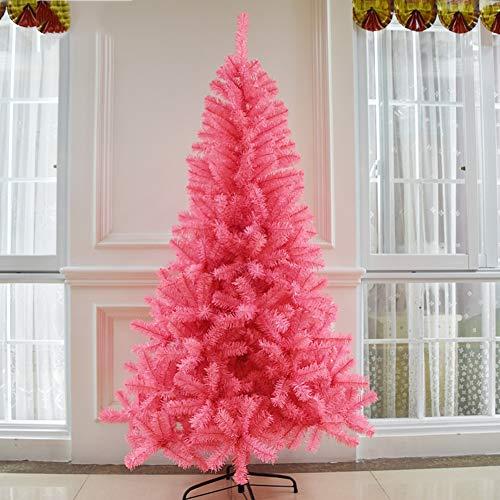 YARUMD Weihnachtsbaum Künstlich Mit Christbaum Ständer (4 Größen Wählbar) Regenschirm Klapp-System Und Christbaumständer Aus Metall (Pink),180Cm