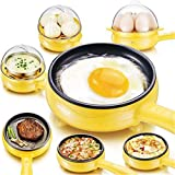 qiuqiu Huevera, Mini Sartén Eléctrica para El Hogar, Sartén para Freír Huevos, Filete Al Vapor Freír Panqueque Panqueque Huevo Frito Máquina De Desayuno