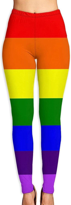Pride Rainbow LGBT Flag Women's 3D Digital Print High Wait Leggi