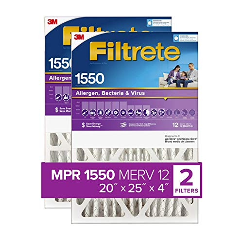 Filtrete 20x25x4, AC Furnace Air Filter, MPR 1550...