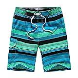 Astemdhj Pantalones Cortos Pantalones Cortos De Verano A Rayas para Hombre Pantalones Cortos De Playa Casuales para Hombre XL Verde