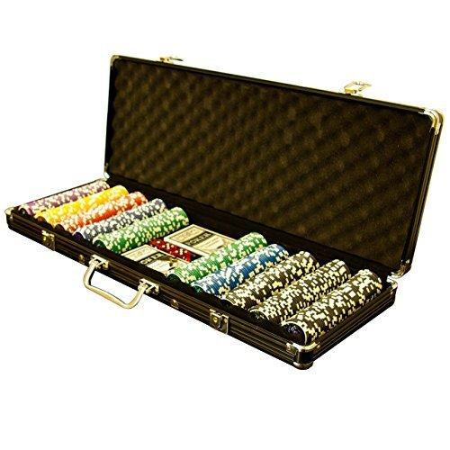 Pokerkoffer Black Edition mit 500 abgerundeten Ocean Champion Chips hochwertige Metallkern Jetons 12 g Pokerset mit viel Zubehör 2 Pokerdecks schwarzer Aluminiumkoffer Black Jack Texas Holdem