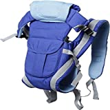 Chinmay Kids 4-in-1 Adjustable Baby Carrier Cum Kangaroo Bag/Baby Carry Sling/Back/Front Carrier for Baby with Safety Belt and Buckle Straps (Royal Blue)