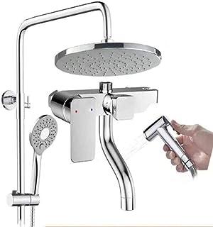 BYCDD シャワーシステム、高級シャワースイート メタルシャワータッチクリーンハンドヘルドシャワー水栓セットバスルームアクセサリー,A