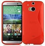 Cadorabo Hülle für HTC ONE M8 (2.Gen.) in Inferno ROT –