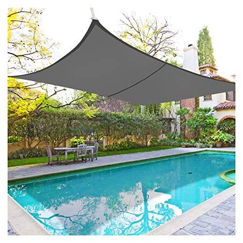 WULIL Toldo Vela De Sombra, Toldo con Protección Solar Resistente Al Agua PES 98% De Protección UV Y 90% De Tasa De Sombra para Patio, Entrada De Auto, Césped, Jardín, Piscina Y Parque