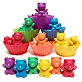 Jumbo Counting Bears with Stacking Cups - Montessori Educational Sorting Rainbow Toys For 3 Year Old Boys and Girls with 48 Preschool Math Manipulatives, Toy Storage and Toddler Games eBook