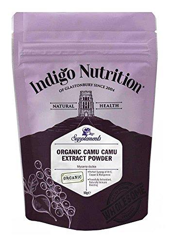 Indigo Herbs Estratto di Camu Camu Biologico in Polvere 50g (Naturale Vitamina C)