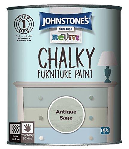 Johnstone's 386497 Revive Chalky Furniture Paint, Antique Sage
