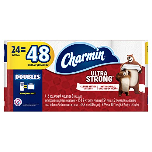 Charmin Ultra Strong Bathroom Tissue Double Rolls - 24 CT