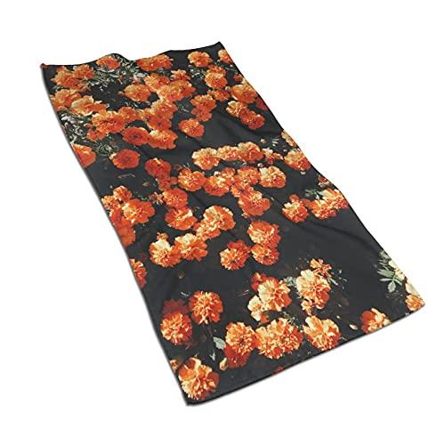 Flores Plantas Toallas de baño Toallas de baño de algodón súper suave de alta absorción calidad de alta absorción baños piscinas hoteles cocinas (30,5 x 60,5 cm)