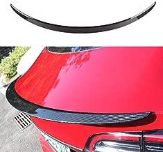 WJM Glossy Carbon Fiber Trunk Spoiler for Tesla Model 3 Trunk Lip Spoiler Wing Rear Spoiler Lip Kit Exterior Rear Spoiler Kit for Tesla Model 3 2017-2021. (Glossy)