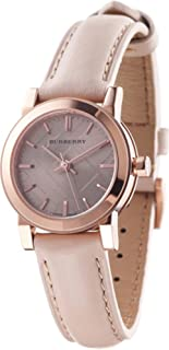 SALE! Authentic Burberry LUXURY SWISS Rose Gold Watch Womens Unisex Men The City Beige Authentic Leather BU9210
