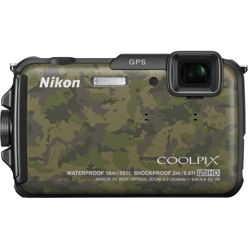 Nikon COOLPIX AW110 Wi-Fi and Waterproof Digital Camera with GPS (Black) (OLD MODEL)