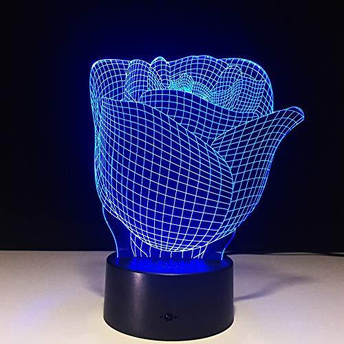 (Nur 1) Blumentischlampen USB LED 3D LED Lampe Nachtlicht LED Licht Batterie LED Nachtlicht Batterie Nachtlicht Für Kinder