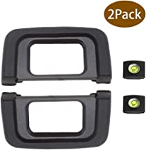 D5300 D3400 Eyepiece Eyecup Viewfinder Eye Cup,ULBTER DK-25 Compatible with Nikon D5500 D5300 D5100 D3500 D3400 D3200 D3300 D3100 D3000 D5600 D5000 D5200 Digital Camera & Hot Shoe Cover [2+2Pack]