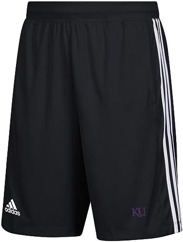 Adidas Kansas Jayhawks KU Hommes's courtes 3 Stripes Knit courte (XX-grand)