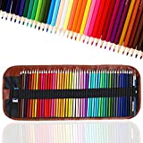 TOYESS 48 Professional Colouring Pencils Set with Pencil Case, Wood-Free Coloured Pencils