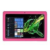 ONN 11,6 Zoll Windows Tablet Hülle, [Ständer] [Hülle für Kinder] Stoßfeste Silikonhülle + PC Tablet Halterung Ständer Hülle für ONN 11,6 Zoll Windows Tablet (Rose Red)