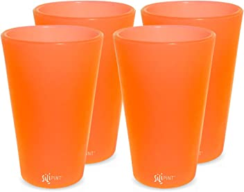 Unbreakable Silicone Cup Drinkware Patented Shatter-proof Single Arctic Sky Silipint Silicone Pint Glass Set