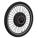 ZOOMLOFT 36V Imortor All En Una Rueda Eléctrica del Motor De La Bicicleta 20' 24' 26' 27.5' 700C 29' Kit De Conversión De Bicicletas De Batería USB con Batería,Disc App Control,26 in