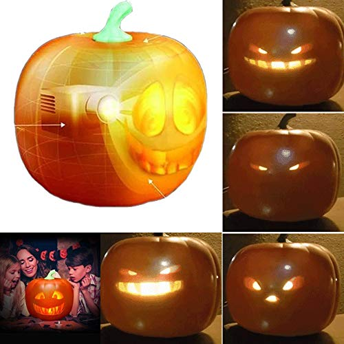 BDFH Talking Animated Led Atmosphere Pumpkin Light - 3 in 1 Rollen Seltsame, Traditionelle Und Lustige, Singende Flash Pumpkin Light USB Plug'n Play 16 * 16 * 16 cm/ 1 STÜCK