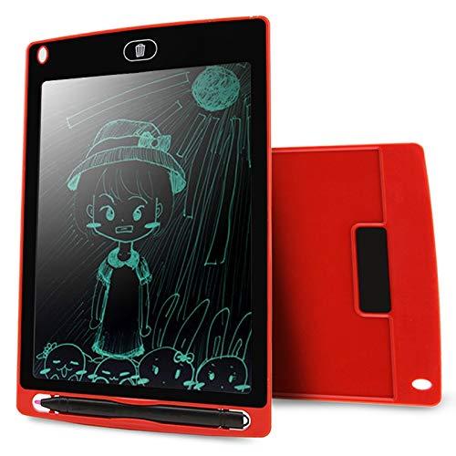 GUAN GOODAO Draagbaar 8,5 inch LCD schrijftablet tekening graffiti, elektronische handtekenpad bericht grafische kaart ontwerp papier met schrijfveer, CE/FCC/RoHS gecertificeerd (zwart) Goede QU, rood
