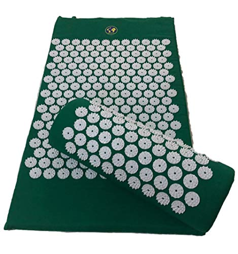 Back and Neck Pain Relief - Large Acupressure Mat and Pillow Massage Set with Carrying Bag – Relieves Stress and Sciatica Pain