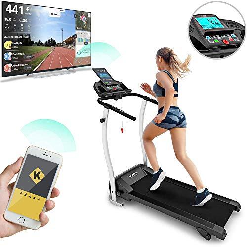 Bluefin Fitness Kick 2.0, Innovativo Tapis roulant ad Alta velocità. Unisex-Adulto, Nero, High-Speed Folding Treadmill