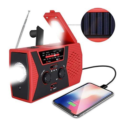 2020 Upgraded Emergency Solar Hand Crank Radio, RegeMoudal Hand Crank AM/FM/NOAA Weather Radio with Flashlight, Reading… 3