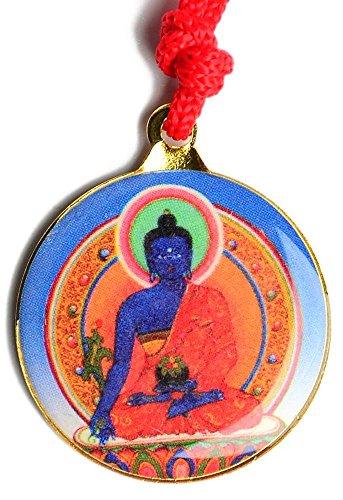 BUDDHAFIGUREN Schutzamulett Buddha Anhänger Medizinbuddha mit Kalachakra