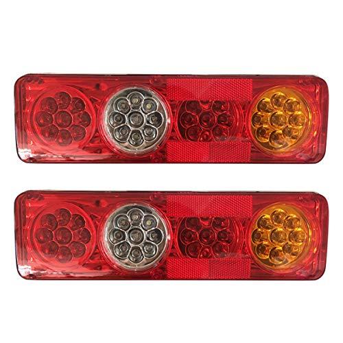 SANON Feu Arrière de Voiture 2 Pcs 12 V 36 Led Feux Arrière 6 Fonction Remorque Remorque Caravane Camion Lampe Arrière