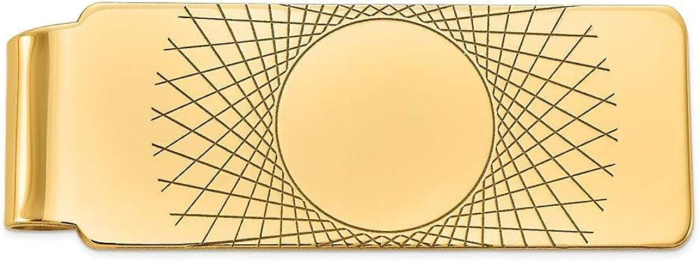 Solid 14k Louisville-Jefferson County Mall Yellow Gold Men's Slim Arlington Mall Card Holder Credit Mon Business