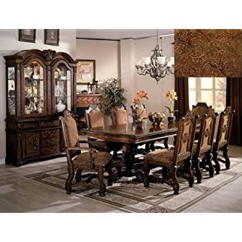Amazon Com Acme Dresden Formal 7 Pc Dining Room Set Table Chair Sets