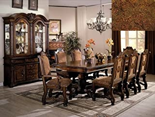 Brand New 7-pc Neo Renaissance Dining Table (with 2x 18'' Leaf) and 2 Dining Arm Chairs and 4 Dining Side Chairs Set