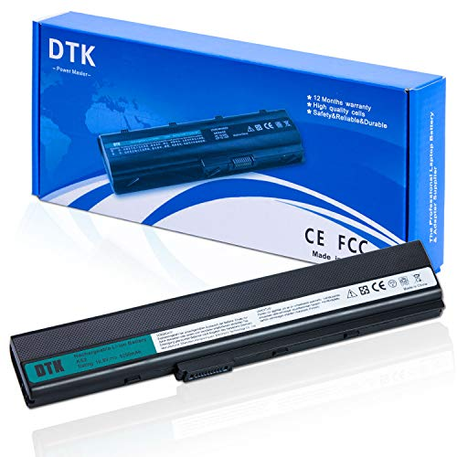DTK A32-K52 Laptop Battery Replacement for ASUS A52F A52J K52F X52N X52J X52F K52D K52J X5IJ Notebook 10.8 5200mAh
