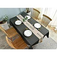 テーブルクロス ホーム現代のミニマリストスタイルの英語防水パッド入りのコーヒーテーブルマットテーブルクロス (Color : 03, Size : 100*130cm)