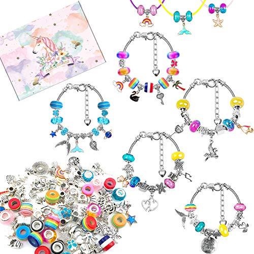 Flymind 86 piezas para hacer pulseras de abalorios de bricolaje,kit de fabricación...