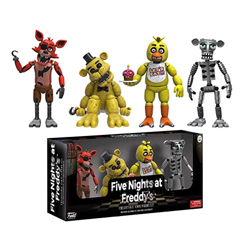Gogowin Five Nights at Freddy'S : 4-Piece Set (1 Set) #01 Gift for Boys Games Fans 2-Inch