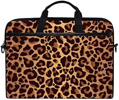 KUWT Laptop Case Animal Leopard Print Laptop Shoulder Messenger Bag Case Sleeve Crossbody Briefcase product image